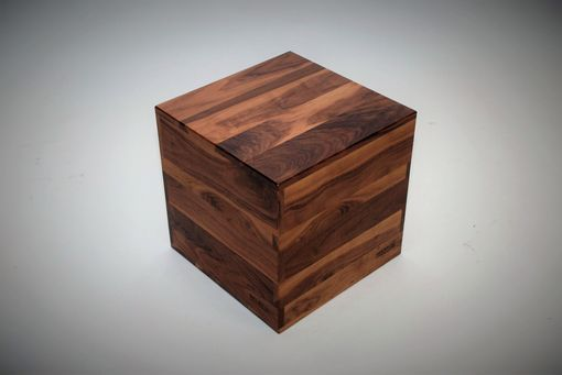 Custom Made Multi-Functional Walnut Cube