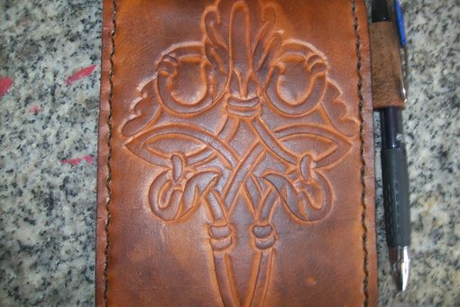Custom Made Custom Leather Notebook With Celtic Design
