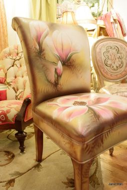 Custom Made Hand Painted Parsons Chairs