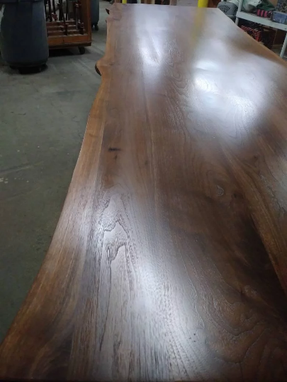 Custom Made Walnut Dining Table, Live Edges, 10 Feet Long, 36 Inches Wide