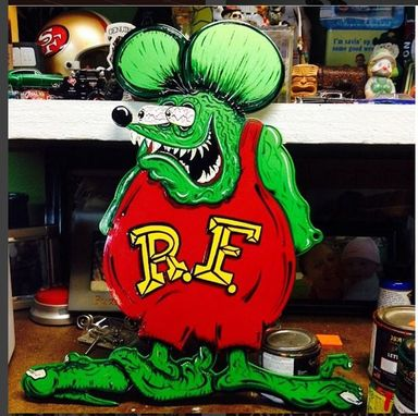 Custom Made Custom Hand Painted Ratfink In Custom Shadowbox