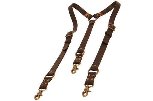 Custom Made Deluxe Heavyweight Suspenders With Versatile Ends