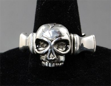 Custom Made Skull Wedding Band