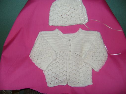 Custom Made Crocheted  Baby Blanket Set