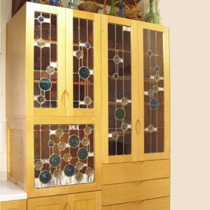 Custom Made Jar And Jewel Dining Server Cabinet