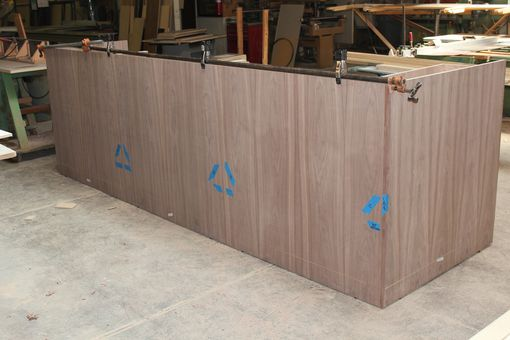 Custom Made Custom Made Zodiac And Walnut Reception Desk