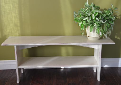 Custom Made Antiqued Farmhouse Sitting Bench
