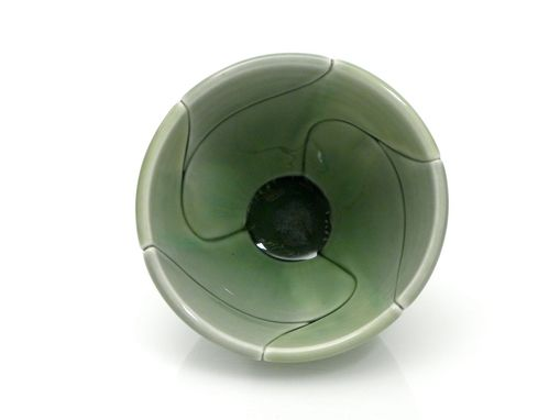 Custom Made Green Twist Bowl Mini Condiment Size