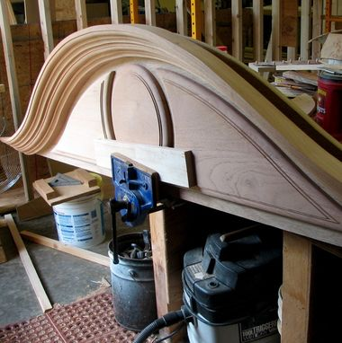 Custom Made Interior Entry Door Arched Bonnet