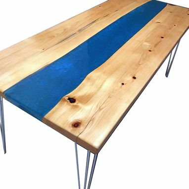 Custom Made River Table | Resin Live Edge Wood Furniture