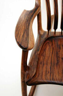 Custom English Walnut Rocking Chair By Hal Taylor