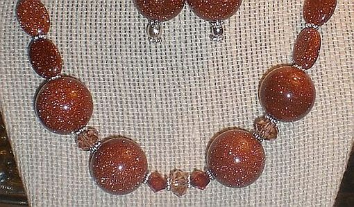 Custom Made Popular 'Goldstone' Necklace Set