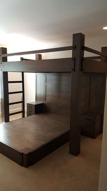 Custom Made Custom Full Xl Over Queen Platform Bed