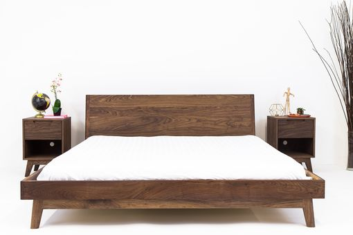 Custom Made The Bosco - Mid Century Modern Solid Walnut Bed