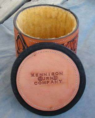 Custom Made Custom Hand Made Leather Urn