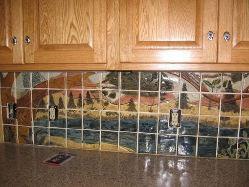 Hand Crafted Custom Wildlife Ceramic Tile Kitchen Backsplash by ...