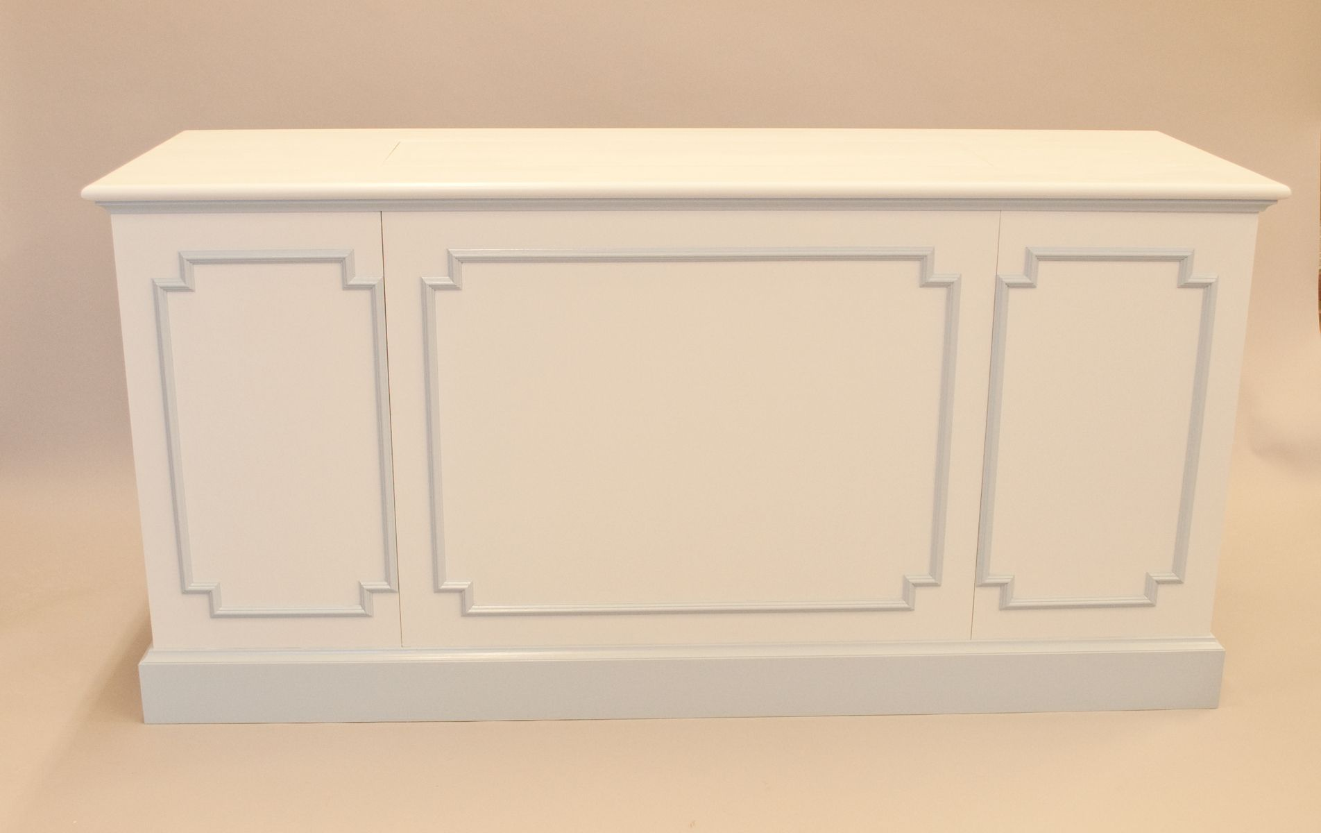 Hand Crafted Painted Media Cabinet By Cherry Brook