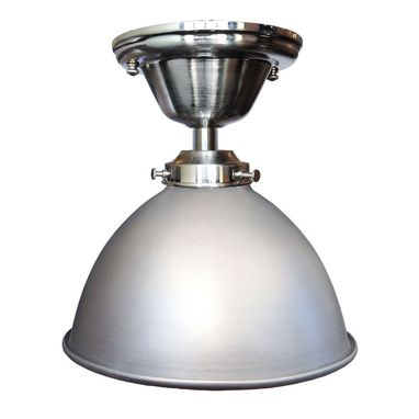 "Custom Made Factory 7"" Dome Metal Flush Mount Light- Nickel"