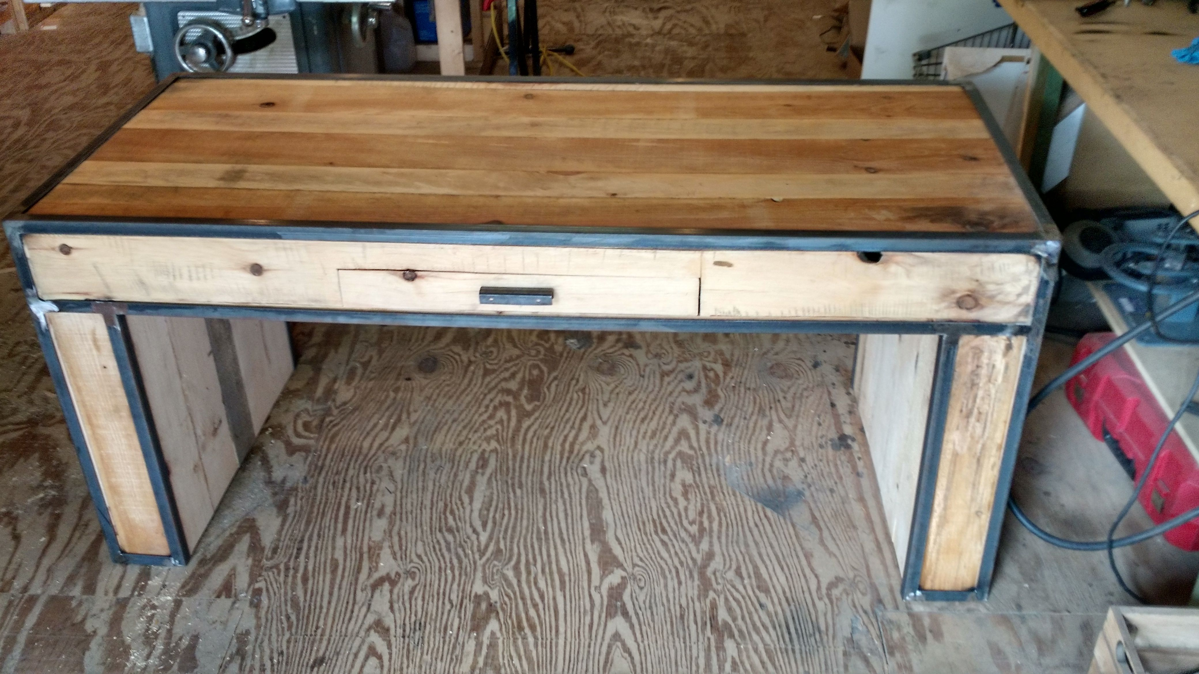 Custom Made The Nashville Reclaimed Wood And Steel Desk