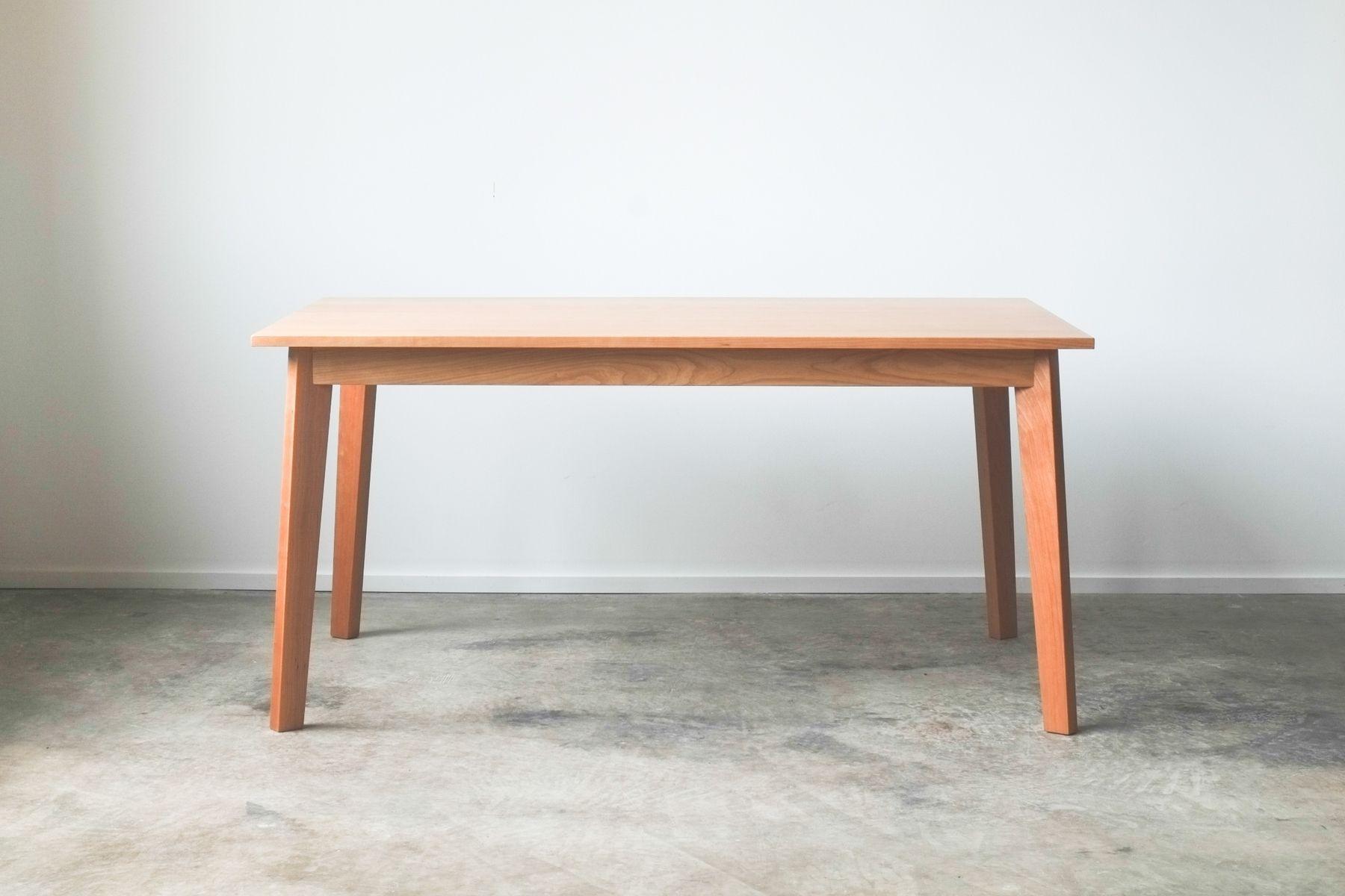 Custom made ventura dining table solid cherry