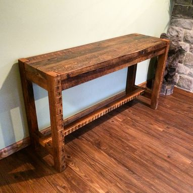 Custom Made Reclaimed Console Table