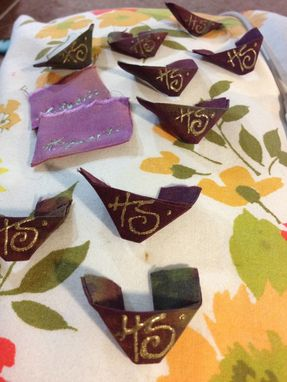Custom Made More Silk Scarves, Shibori Dyed And Hand Sewn By Holly Stewart