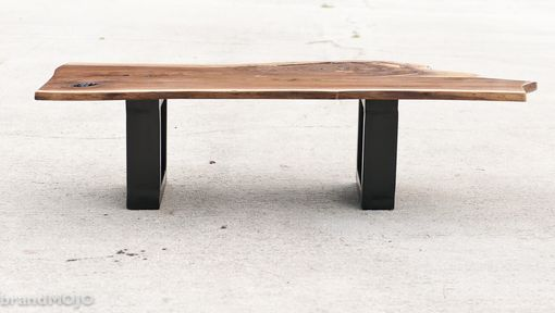 Custom Made Acero Live Edge And Steel Coffee And Occasional Table
