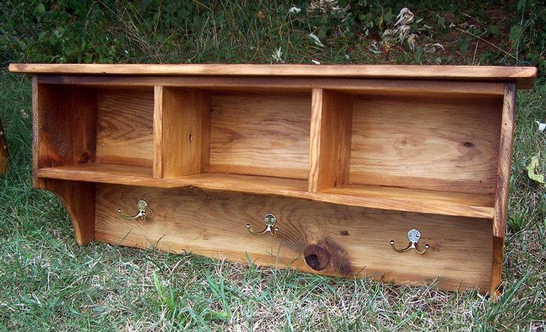 Custom Made Coat Rack Cubby Shelf For Entryway From Reclaimed Pine