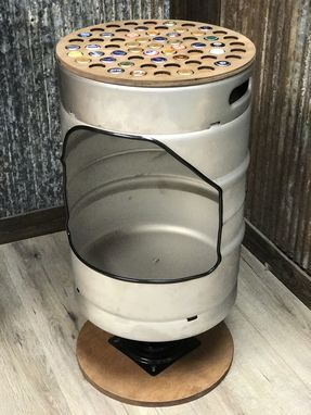 Custom Made Keg Stool - Barstool