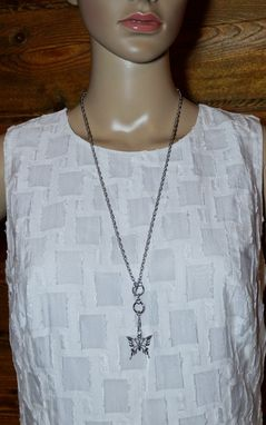 Custom Made Stainless Steel Body Chain, Belly Chain, Long Necklace With Butterfly