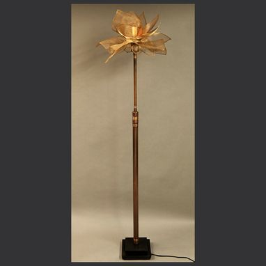 Custom Made Blooming Torchere Floor Lamp