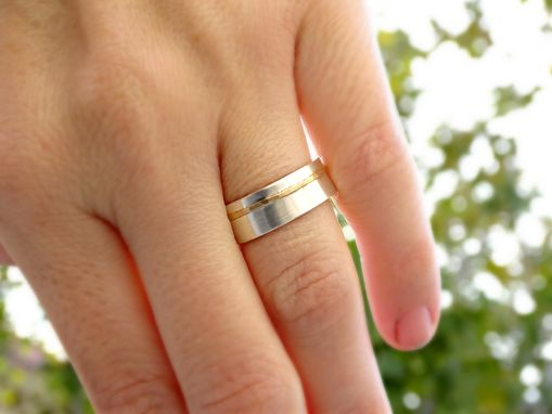 Viking Wedding Ring Mens Band Gold Silver Uni