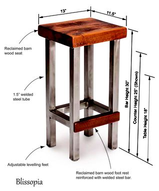 Buy Hand Crafted Industrial Bar Stool Counter Stool