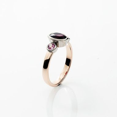 Custom Made 18k Rose Gold Ring With Pink Tourmaline And Pink Sapphires