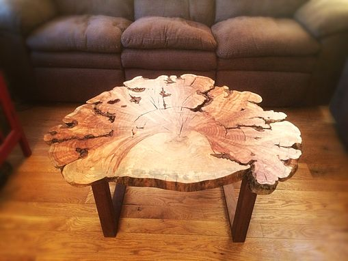 Custom Made Live Edge Maple Burl Coffee Table