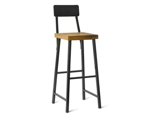 "Custom Made 30"" Square Metal Stool With Back"