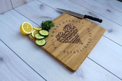 Custom Made Personalized Cutting Board, Engraved Cutting Board, Custom Wedding Gift – Cb-Wo-Phil Marystanley