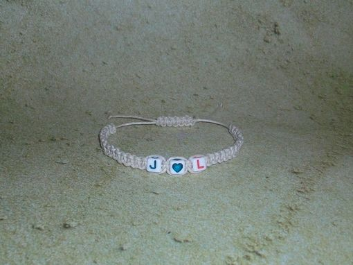 Custom Made Hemp Bracelet Adjustable, Friendship Bracelet