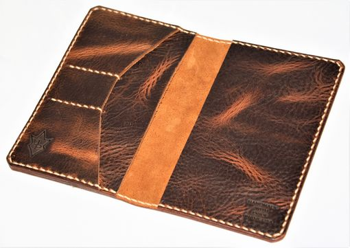 Custom Made Jp Leathercraft Handmade Scribo Field Notes Cover Wallet Wheat Harvest Leather