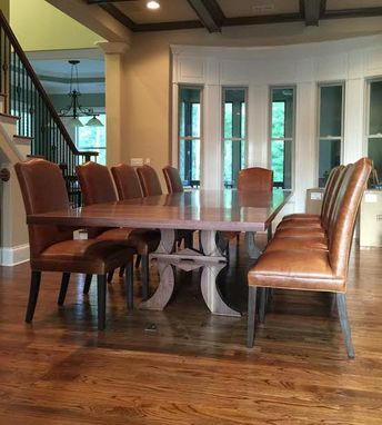 Custom Made Walnut Dining Table With Extension  04