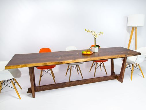 Custom Made Claro Walnut Conference/Dining Table.