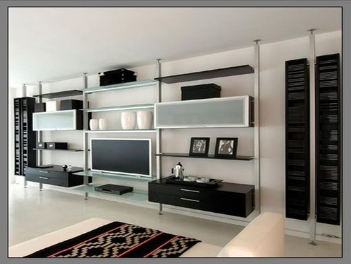 Custom Made Wall Unit Aluminum And Wood