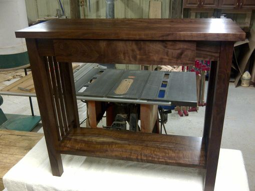 Hand Crafted Mission Style Walnut Sofa Table By Db Custom