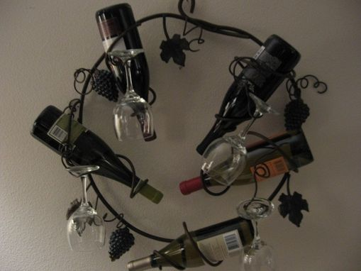 Custom Made Circle Wall Mounted Wine Rack