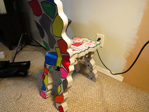 Custom Made Art Chair By Artist Shawn Tyler, Homage To Jean Dubuffet Functional Art Object