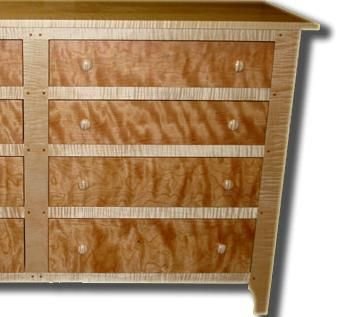 Flame Cherry And Tiger Maple Dresser
