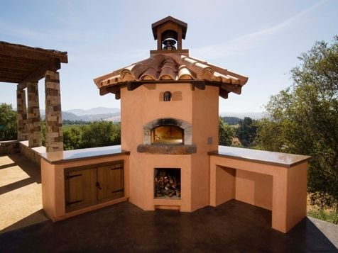 Custom Made Outdoor Kitchen Pizza Oven