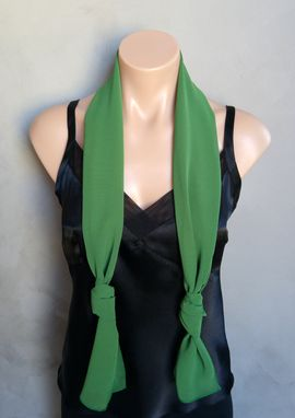 Custom Made Green Chiffon Scarf