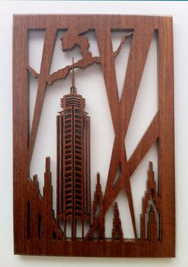 "Custom Made Mahogany Fretwork ""Deco Tower"""