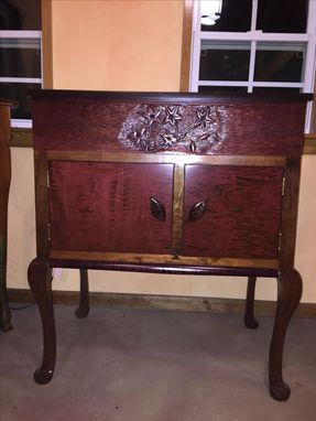Custom Made Humidor With Liquor And Wine Storage